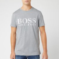 BOSS Men's Large Logo T-Shirt - Grey - L