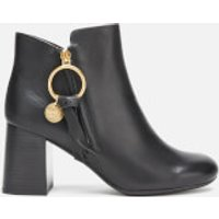See By Chloe Women's Leather Heeled Ankle Boots - Nero - UK 5