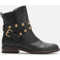 See By Chloe Women's Leather Flat Boots - Nero - UK 3