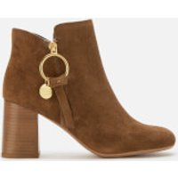 See By Chloe Women's Suede Heeled Ankle Boots - Savana - UK 5