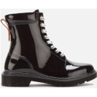 See By Chloe Women's PVC Lace Up Boots - Nero - UK 5