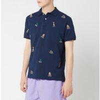 Polo Ralph Lauren Men's Multi Bear Embroidered Polo Shirt - Newport Navy - XXL