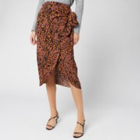 Whistles Women's Brushed Leopard Sarong Skirt - Brown/Multi - UK 10 - Brown