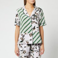 Diane von Furstenberg Women's Iman Shirt - Caribean Floral Lavender Fog - L - Multi