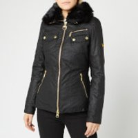Barbour International Womens Ballig Wax Jacket - Black - UK 8 - Black