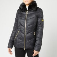Barbour International Women's Nurburg Quilt Jacket - Black - UK 12 - Black