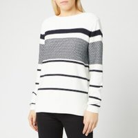 Barbour Women's Paddle Knit Jumper - Off White - UK 12 - White
