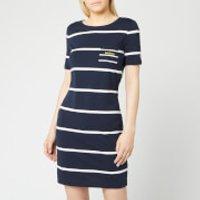 Barbour Women's Stokehold Dress - Navy/White - UK 12 - Blue
