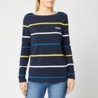 Barbour Women's Hawkins Stripe Top - Navy - UK 10 - Blue