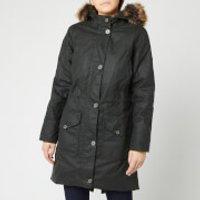 Barbour Womens Fairlead Wax Coat - Sage - UK 14 - Green