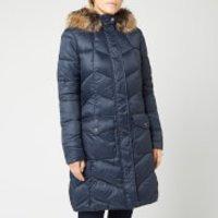 Barbour Women's Clam Quilt Coat - Navy - UK 8 - Blue