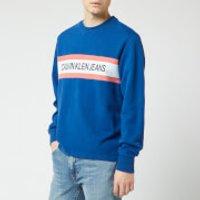 Calvin Klein Jeans Men's Front Stripe Sweatshirt - Mazarine Blue - XL - Blue