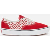 Vans ComfyCush Era Tear Check Trainers - Racing Red/True White - UK 8 - Red