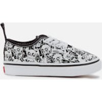Vans Toddlers Authentic Elastic Lace Glow Skulls Trainers - Black/True White - UK 8 Toddler