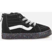 Vans Toddlers' Sk8-Hi Zip Water Resistant Trainers - Glitter Sidewall Black - UK 8 Toddler