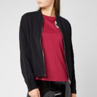 Karl Lagerfeld Women's Bomber Jacket with Snap Sleeves - Black - IT 40/UK 8