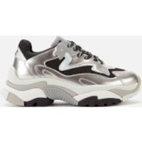 Ash Women's Addict Chunky Running Style Trainers - Antic Silver/Black/Silver - UK 7 - Silver