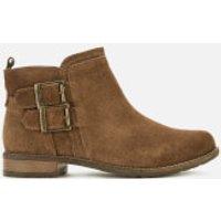 Barbour Sarah Suede Low Buckle Boots - Caramel