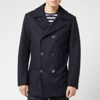 Armor Lux Men's Caban Wool Coat - Navire - EU 40/M - Blue