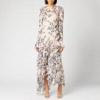 Philosophy di Lorenzo Serafini Women's Leaf Print Ruffle Dress - Cream - IT 42/UK 10 - Cream
