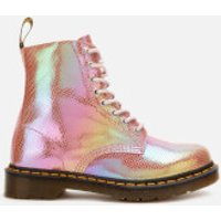 Dr. Martens Women's 1460 Iridescent Pascal 8-Eye Boots - Pink - UK 4 - Pink
