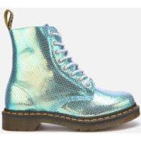 Dr. Martens Women's 1460 Iridescent Pascal 8-Eye Boots - Blue - UK 5