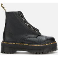 Dr. Martens Women's Sinclair Leather Zip Front Boots - Black - UK 8 - Black