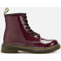 Dr. Martens Kids 1460 Patent Leather Lace-Up Boots - Plum - UK 10 Kids - Purple