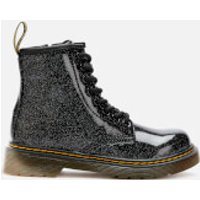 Dr. Martens Kids 1460 Glitter Lace-Up Boots - Black - UK 11 Kids - Black