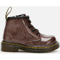 Dr. Martens Toddlers 1460 Glitter Lace-Up Boots - Rose Brown - UK 3 Toddler - Pink