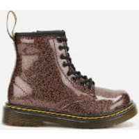 Dr. Martens Toddlers 1460 Glitter Lace-Up Boots - Rose Brown - UK 7 Toddler - Pink