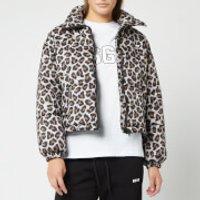 MSGM Womens Leopard Jacket - Beige - IT 44/UK 12 - Beige