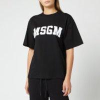 MSGM Women's Large Logo T-Shirt - Black - L - Black