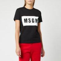 MSGM Women's Logo T-Shirt - Black - S - Black