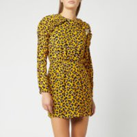 MSGM Women's Print Mini Dress - Yellow - IT 42/UK 10 - Yellow