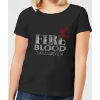 Game of Thrones Fire And Blood Women's T-Shirt - Black - S - Black