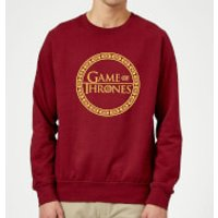 Game of Thrones Circle Logo Sweatshirt - Burgundy - XXL - Burgundy