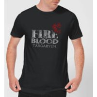 Game of Thrones Fire And Blood Men's T-Shirt - Black - M - Black