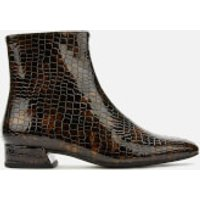 Vagabond Women's Joyce Embossed Leather Ankle Boots - Dark Brown - UK 5 - Brown