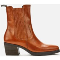 Vagabond Women's Simone Leather Heeled Chelsea Boots - Cinnamon - UK 7 - Tan