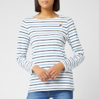 Joules Women's Harbour Embroidered Top - Buzz Bee Stripe - UK 12