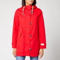 Joules Women's Coast Mid Length Waterproof Jacket - Red - UK 6