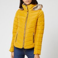 Joules Women's Gosway Chevron Padded Jacket - Caramel - UK 14