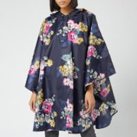 Joules Womens 30th Anniversary Floral Poncho - Navy