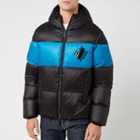 Dsquared2 Men's Down Coat - Black/Bluette - IT 50/L - Black