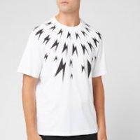 Neil Barrett Men's Meteorites Fairisle T-Shirt - White/Black - S