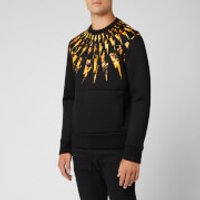 Neil Barrett Men's Flame Fairisle Sweatshirt - Black/Orange - XL