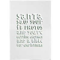 Santa Saw Your FB Photos Cotton Tea Towel - Photos Gifts