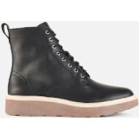 Clarks Womens Trace Pine Leather Lace Up Boots - Black - UK 3