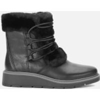 Clarks Ivery Jump Leather Winter Boots - Black